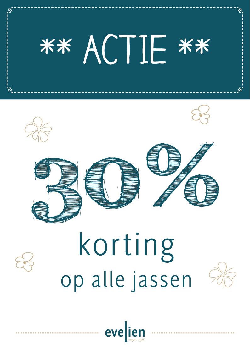 30% korting op alle jassen bij Evelien mijn stijl in Roermond